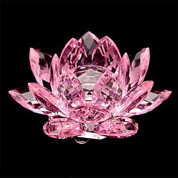 Popular Crystal Glass Lotus Flower For Wedding Door Gift Buy