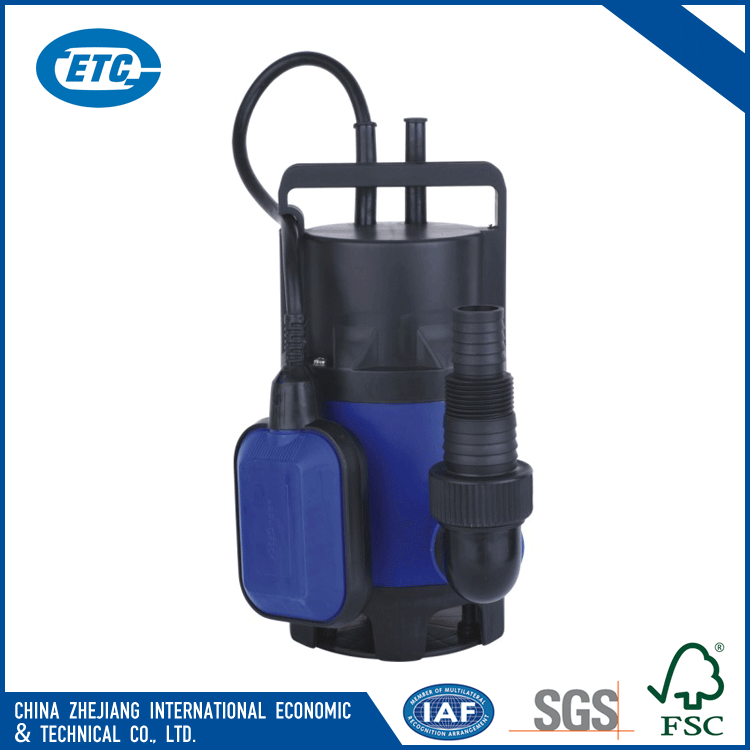 Hand carry best price 400w 0.53hp 7000l/h electric submersible plastic water pump