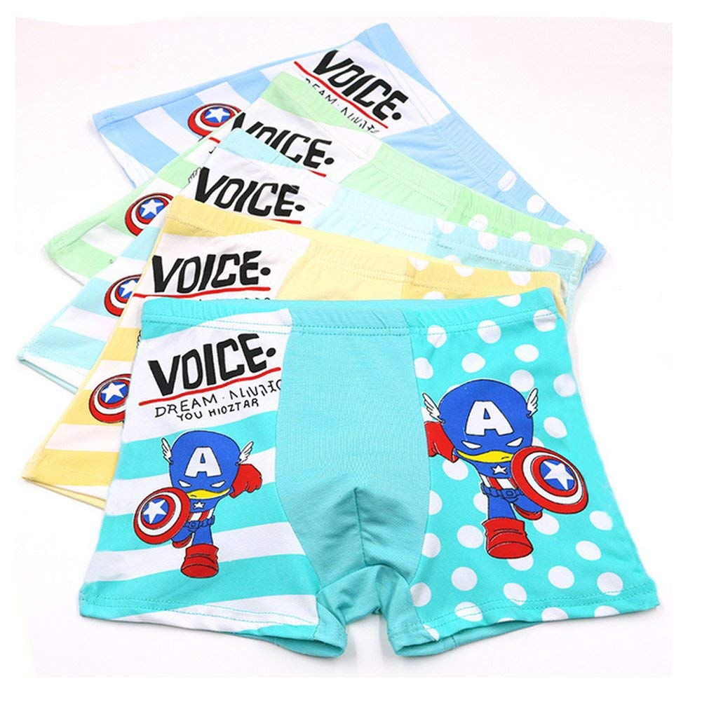 Get Quotations · 2-8 Years Old Boys Captain America Boxer Briefs Fun Design  Character Underwear 5 Pack 7b5cda9f90