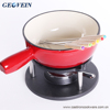 New special cast iron enamel cookware beautiful mini chocolate fondue mini container