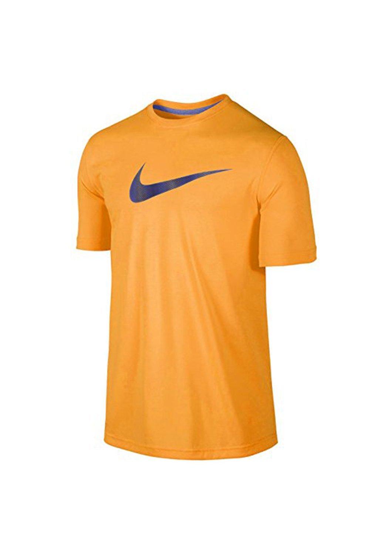 948ec8176d4f Get Quotations · Nike LEGEND SWOOSH LINES Men s Dri-FIT Training Running  Shirt-Orange
