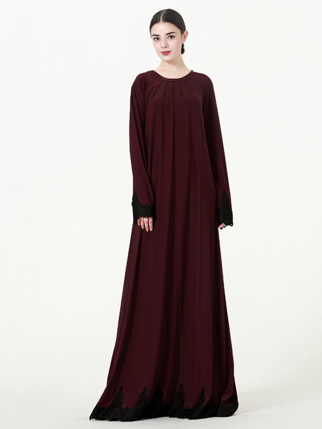Woen Arabische Moslim Lange Jurk Nieuwe Model Abaya In Dubai