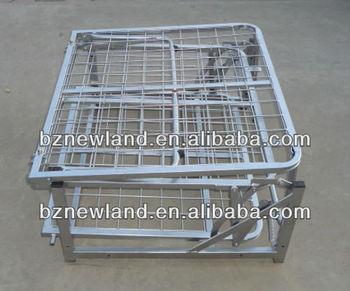 Reti Da Letto Metalliche : Tutto il metallo rete metallica letto pieghevole singolo per