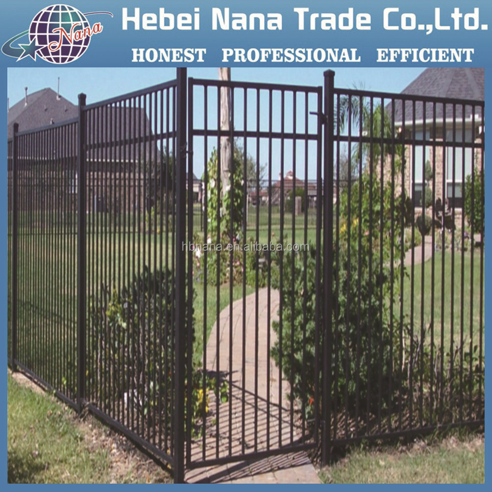 Cheap wrought iron fence panels for sale galvanized