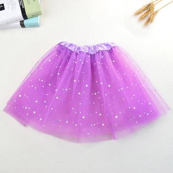 WEN Summer Baby Star Glitter Dance Tutu Skirt For Girl Sequin 3 Layers Tulle efc7e80fd223