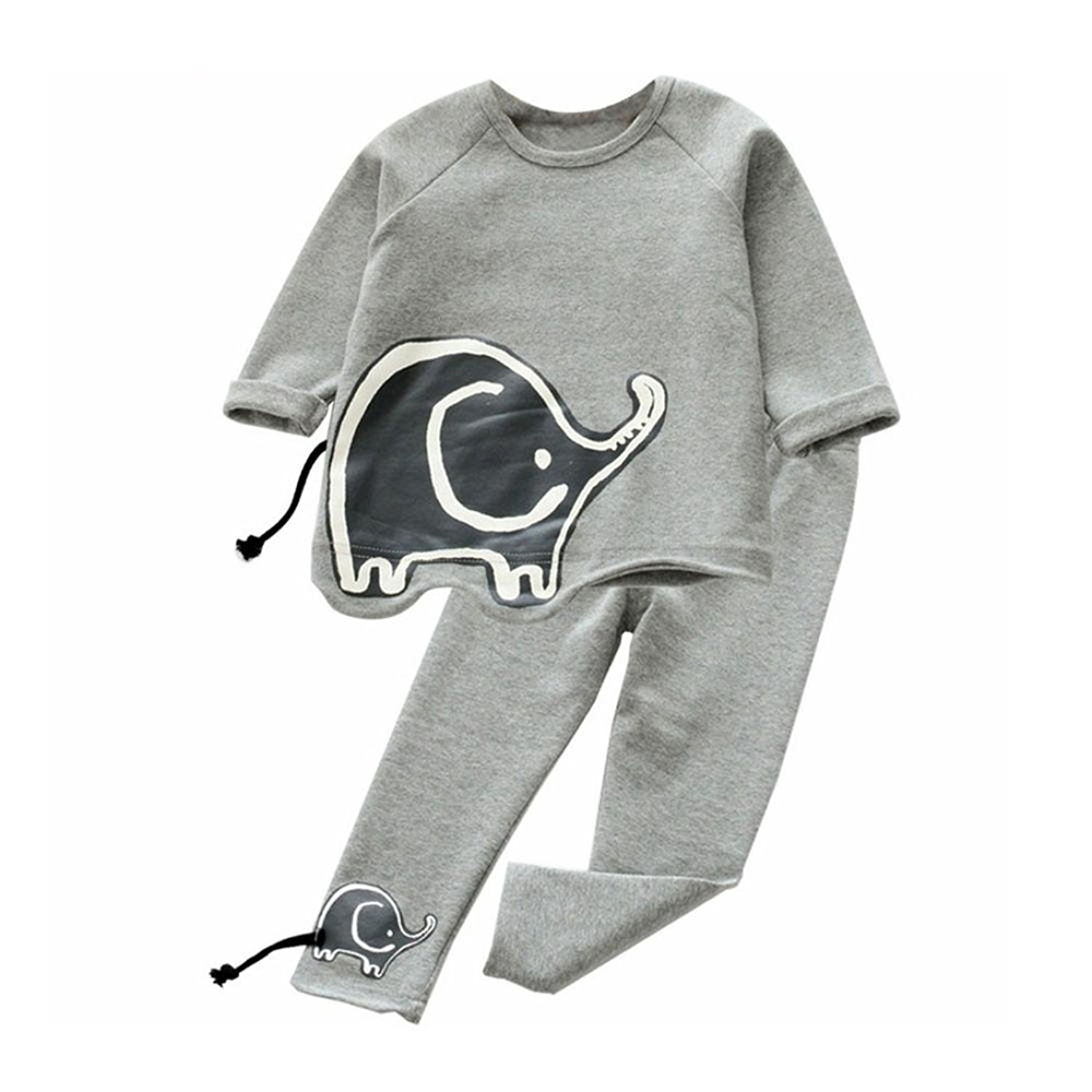 ba753e954898 Get Quotations · Vicbovo Clearance Sale Toddler Baby Girls Kids Outfit Cute  Elephant Print Shirt Sweatshirt+Pants Clothes