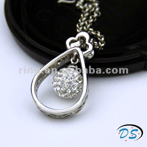 indian custom jewelry scalar energy silver crystal stainless pendant