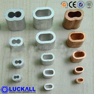 Copper Hourglass Swage Tube Sleeve Wire Rope Ferrule