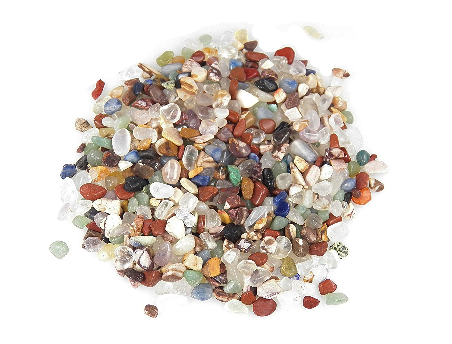 """Fundamental Rockhound Products: AAA Mix Size XX Small Mixed Tumbled Stones from Brazil (1/4""""-3/8"""") (8 oz)"""