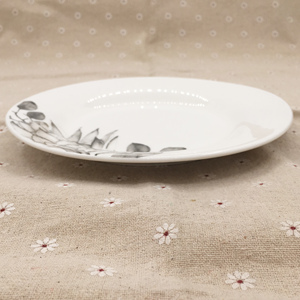 High quality mini printed ceramic thali plate