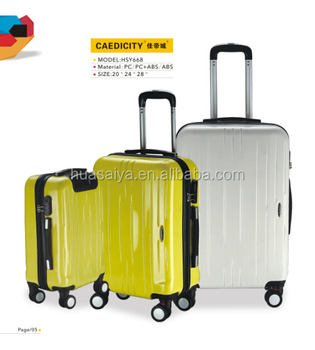 4 Wheels Abs Travel Luggage Bags,Trolley Suitcase Luggage Set For ...