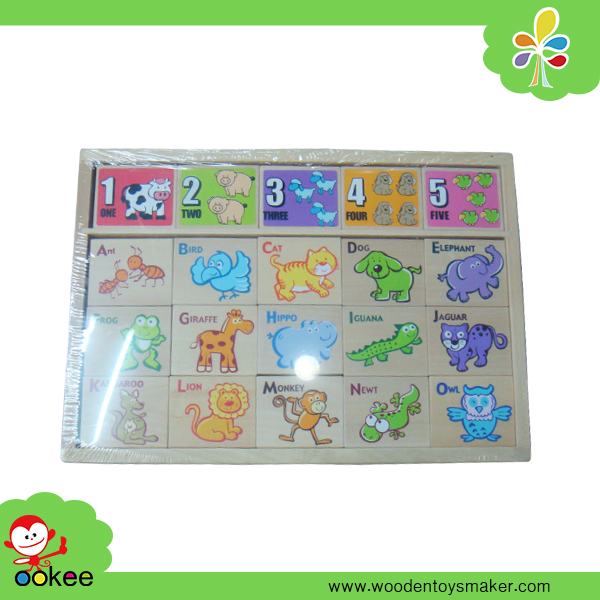 2016 Hui Mei Arabic Number Alphabet Building Block Set Cart Educational Toy