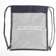 Promotional mesh PVC Clear Drawstring Backpack Bags