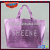 Woman handbag/wholesale hot sales glossy metallic non woven woman handbag