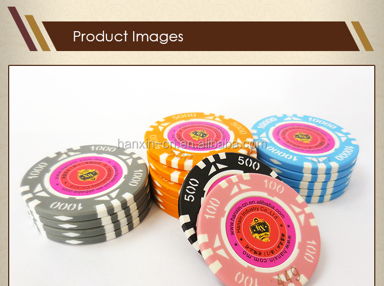 Custom metal ABS plastic poker chips casino chips gaming chips