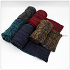 Acrylic Knitted Autumn Winter Season Men Women Scarf