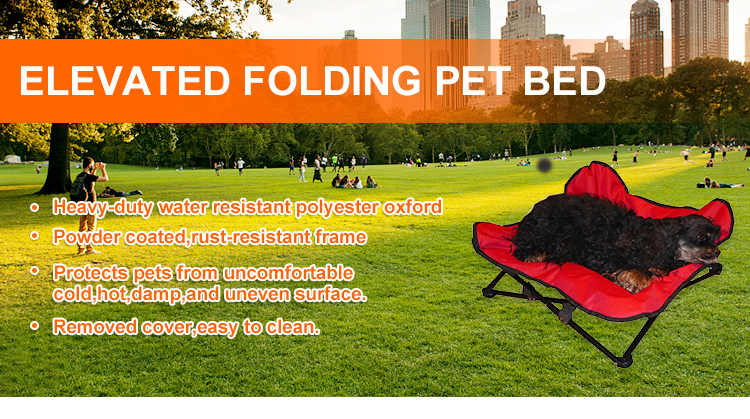 Indestructible Designer Portable and Washable Cute Folding Dog Bed