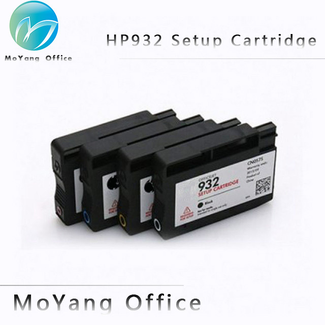 MoYang 4 Color for HP 932 933 Genuine Setup Ink Cartridge compatible for OfficeJet 6100 6600 6700 7610