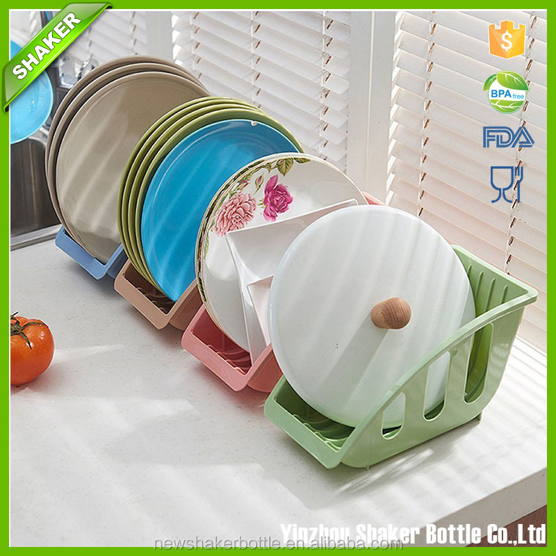 Home Kitchen Functional Plastic Dish Drying Rack and Dish Drainer Storage