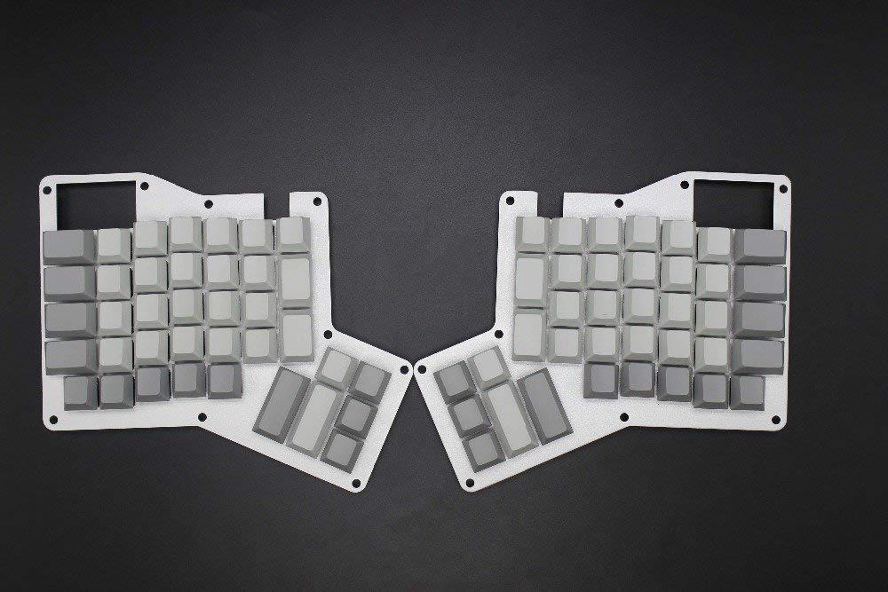 YMDK Cherry Profile Thick PBT Blank Ergodox Keycap Set for Ergo Ergodox Keyboard