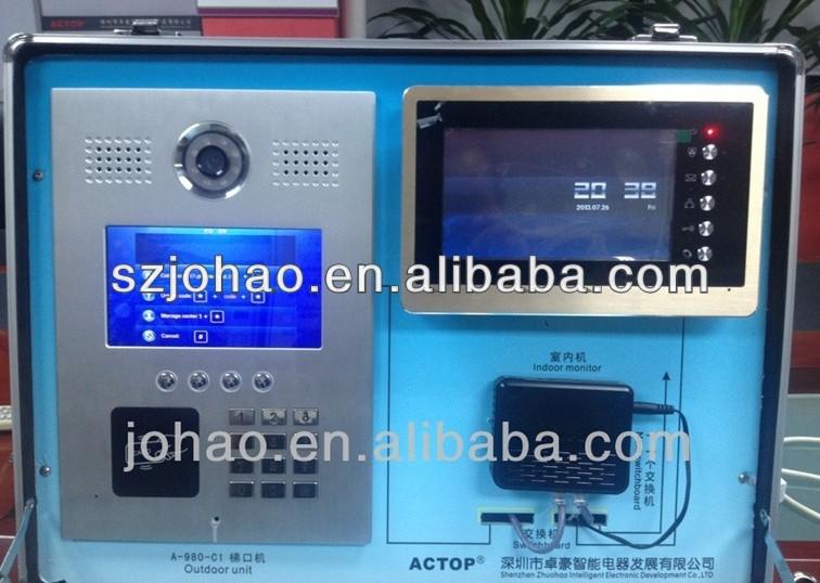 7 Inch Video Intercom For Apartment Sip Video Doorphone Ip Video ...