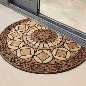 SN006 Sublimation Printed Polyester Nylon Fiber Flocked Welcome Door Floor Rubber Mats