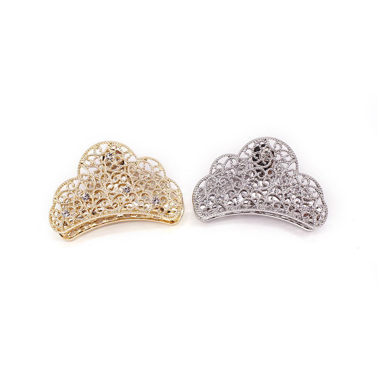 New Girls Gold Silver Zinc Alloy Rhinestone Hollow Hair Accessories Hair Claw