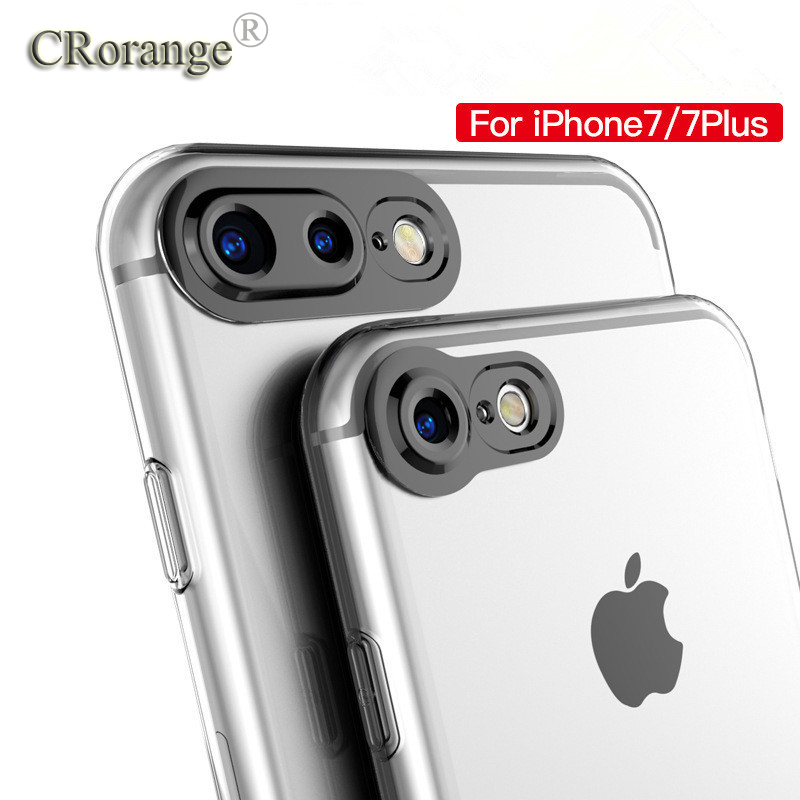 For Apple iPhone 6 6s 7 Case Slim Crystal Clear TPU Silicone Protective sleeve for iPhone 6 plus /6s plus /7plus cover cases