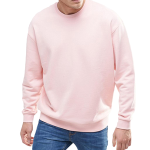 Man Pullover Sweatshirt Custom Fleece Fabric Plain Blank Crewneck mens Sweatshirt