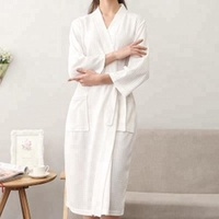 Personalized Cotton Waffle Bathrobe For Adult