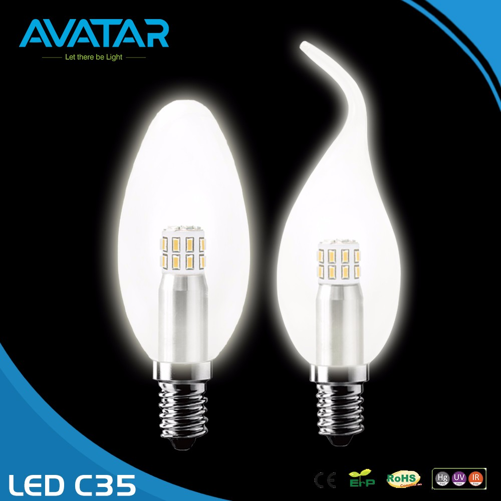 Avatar Best Price C35 3W 5W 2.8W 3.8W PP Plastic LED Bulb Component Parts For Home And Office