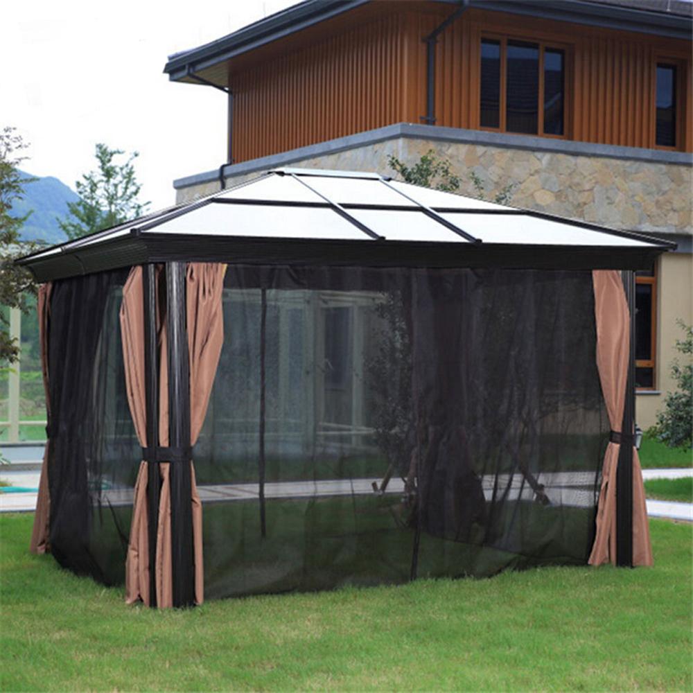 vier ecken pavillon garten mit moskitonetze pvc kunststoff hardtop polycarbonat pavillon tower. Black Bedroom Furniture Sets. Home Design Ideas