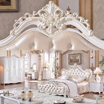 Antique Luxury Royal King Bedroom Furniture Set