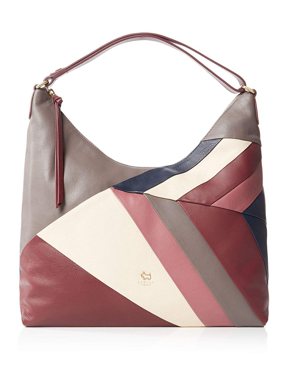 c1432c821a Radley Oxleas patchwork large zip top hobo bag Grey