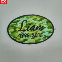 2016 High quality custom twill name Liam embroidery iron on patch