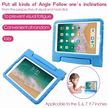 Case cover for iPad 5 6 7 9.7 inch tablet shock proof carrying handle stand eva foam kids shell