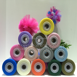 2018 new arrival Nylon 100% 6 inches wide soft tulle roll 100 yards for tutu dress and party decoration