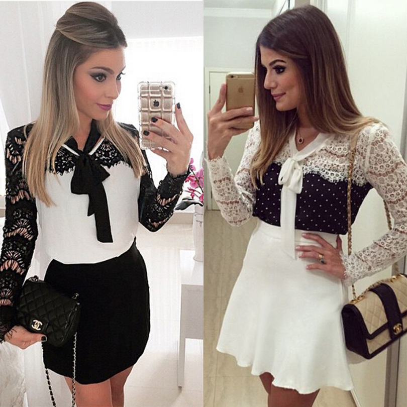 9d64c836f68 2016 New style hot classy european lace white Splicing dresses for women