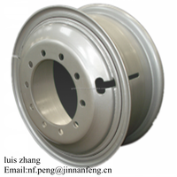 Heavy Truck Tube Steel Wheels 8.5-24 for international market