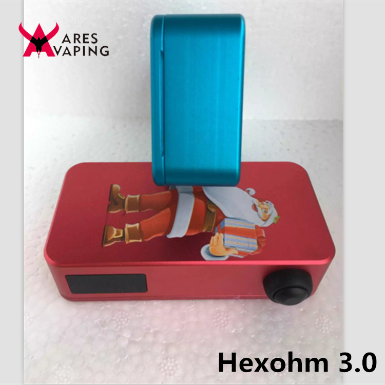 high quaity hex ohm v3 mod 1:1 clone hexohm v3 boxer clone mod with dual 18650 Hexohm 3.0