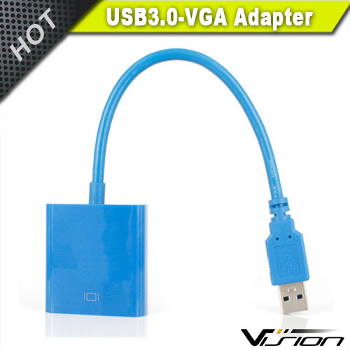 USB 3.0 to VGA Cable Video Graphic Card Display External Adapter for Windows 7 8