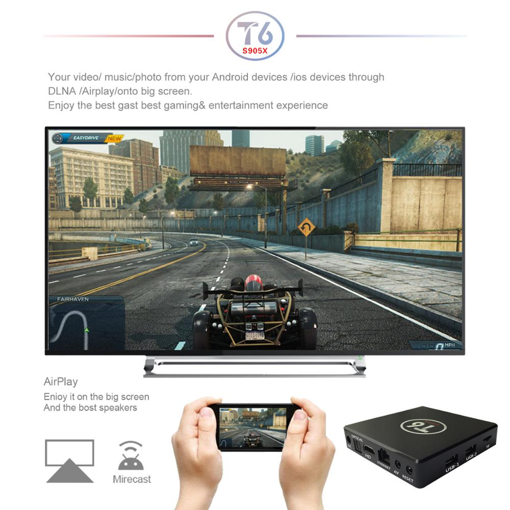 Wholesale Price Google TV Box S905x 2GB 16GB Media Player T6 Android Tv box S905x Fire TV Stick