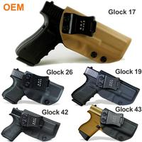 ODM/Wholesale IWB KYDEX Holster Fit: Glock 19 17 25 26 27 28 43 23 3132 Gun Holster Inside Concealed Case Pistol Bag Accessories
