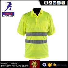 2016 hot sell Reflective Safety Polo t shirt design for men
