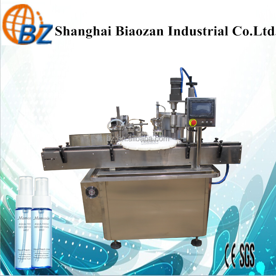 Automatic bottled perfume spray filling capping machine for plastic bottle