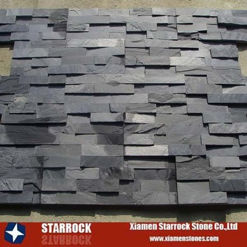 Cheap Z Type Black Slate Exterior Wall Natural Stone Cladding - Buy ...