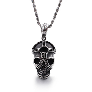 Cool punk style skull head pendant stainless steel jewelry