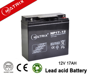 rechargeable 12v 17ah battery for solar power system