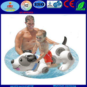 Giant Inflatable dog pool float, Inflatable dog ride on