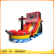 cheap newly design inflatable water slide boat for adults and kids